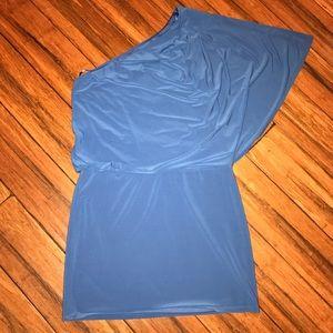 Jessica Simpson Blue One Shoulder Dress